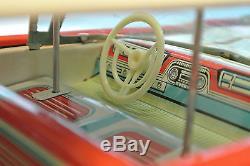 Vintage tin Toy 1959 Oldsmobile Highway Patrol Police car ICHIKO JAPAN with BOX