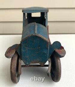 Vtg 1920s Turner PASSENGER Friction CAR Pressed Steel Dayton Schieble