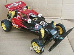 Vtg. 1980s TAMIYA The FALCON Off-Road BUGGY RC CAR 1/10 Scale Model Toy