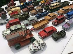 Vtg Dinky Toy Diecast Job Lot Collection Early Cars Tractor Vehicles