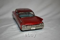 Vtg Japan YONEZAWA CADILLAC FRICTION CAR ORIG/BOX Tin Litho Toy Car Minty