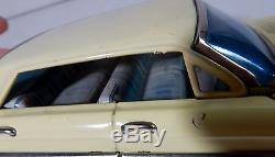 Vtg Tin Car Toy Japan 1961 Litho Friction Yonezawa Olds Mobile