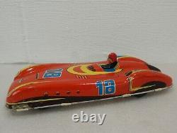 Vtg Unbranded Western Germany 11 Tin Friction Futuristic Sports Car Racer #18