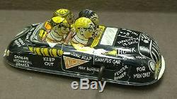 WORKING MARX Jumping JALOPY College Boy Car Wind Up Tin Toy