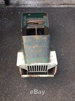 Willis Jeep Vintage Triang Pedal Car show with your military vehicle