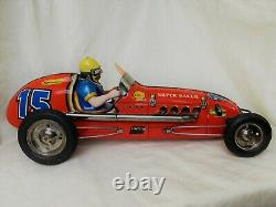 Wüco Super Racer Car Indianapolis Large Version Tin Toy Extremly Rare