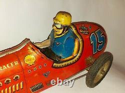 Wuco Super Racer Rare Tin Toy Car Yonezawa Race
