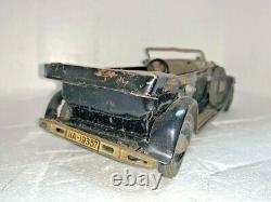Ww2 Tippco Tin Wind Up Leader Mercedes Car Toy German Soldier Lineol Elastolin
