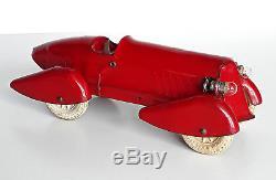 Wyandotte Streamlined Racing Car 1930s Art Deco Pressed Steel Tinplate toy EX