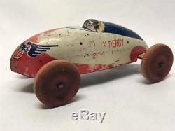 Wyandotte Toys Soap Box Derby 226 Red Tin Race Car