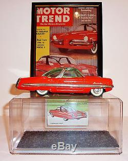 YONEZAWA Japanese Tin Litho Friction 1950s LINCOLN XL-500 CONCEPT CAR with CASE