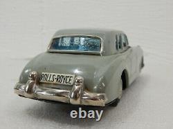 Yonezawa Japan Tin Friction 8.5 Rolls Royce Silver Cloud 1960 Gray Toy Car