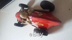Yonezawa Sanyo Toys Tin # 5 AAA Mobil Special Midget Indy Racer Car Friction