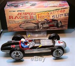 Yonezawa Tin Jet Speed Racer car 60s battery operated japanTop