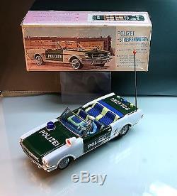 Yonezawa Tin mustang convertible police car 60s battery operated japanTop
