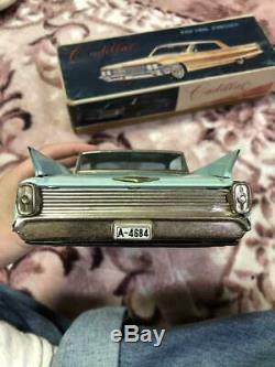 Yonezawa Vintage Tin Toy CADILLAC Mini car light blue With Box Collector Item JP